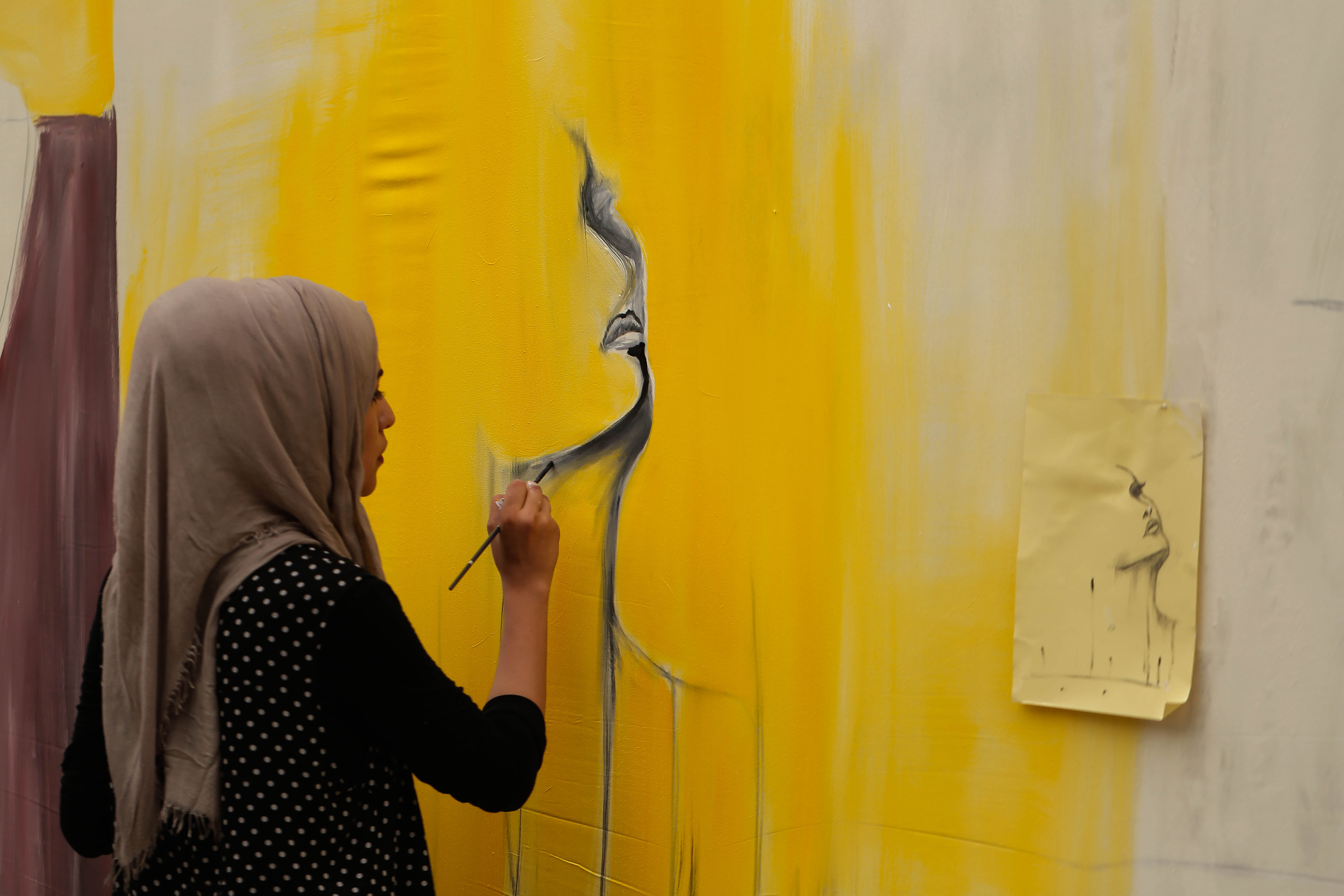 Fidaa painting in yellow, the color of hope